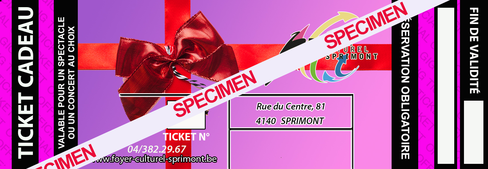 ticket carte cadeau specimen